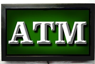 LED LIGHTED ATM MACHINE SIGN FOR BUSINESS LARGE AND BRIGHT