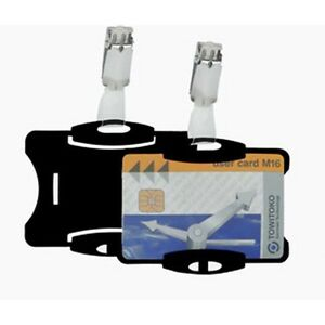5-x-Durable-Name-Security-Badge-Pass-Holders-amp-Clips-Credit-Card-Size-8118-01