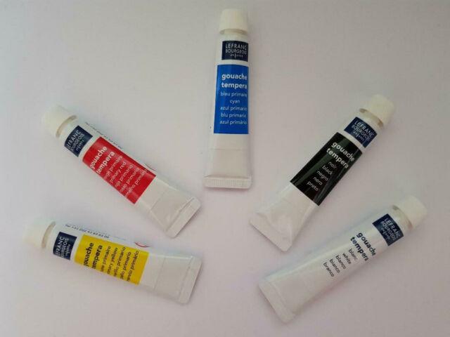 boite de 5 tubes de peinture gouache 10ml 5 couleurs, spécial enfants