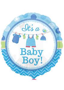 Cute Blue Its a Baby Boy Helium Balloon