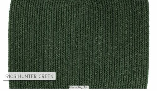 Solid Hunter Green 100/% Wool New England Country Home Classic Braided Rug