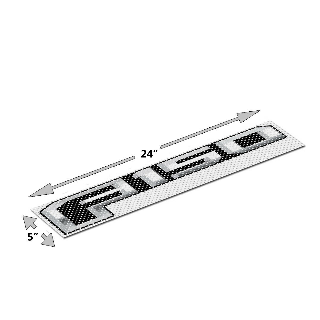 24 24 24  Ford F150 3M Perforated Unobstructed View Window Graphic Decorative Decal a0d72d