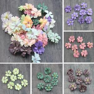 50pcs-Daisy-Flower-Heads-Mini-Silk-Artificial-Flowers-Wreath-Ring-Home-Decor