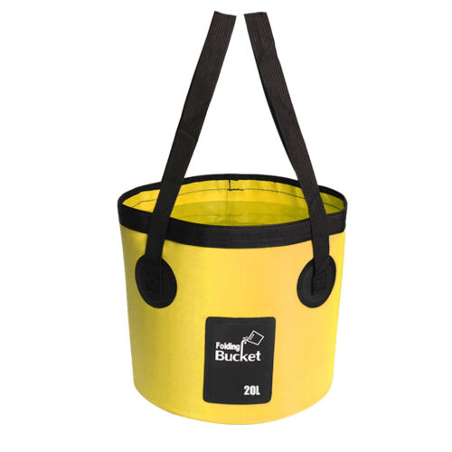 12//20L COLLAPSIBLE FOLDING WATER BUCKET With STORAGE BAG Camping Hiking