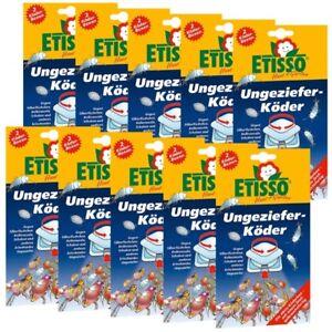 Etisso Ungeziefer-Köder 10er Sparpack Köderboxen gegen Silberfischchen Schaben