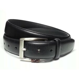 """FREE POST Mens Black or Brown 32mm Bonded Leather  Suit Belt Lined  36/""""-48/"""" NWT"""