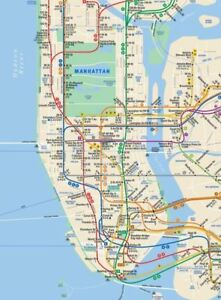 Ny Street And Subway Map.Details About Current New York City Mta Nyc Subway Map 2018 The Map New Version