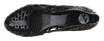Nuevo en el paquete Juju Christabel Cuña Negro Jelly Zapatos Uk Size 4