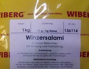 Wiberg Winzersalami 1 Kg Salamigewürz Gewürz Für Salami Gewürz