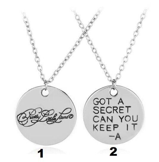 Got A Secret Can You Keep It A Necklace Pretty Little Liars Pendant Chain PLL TV