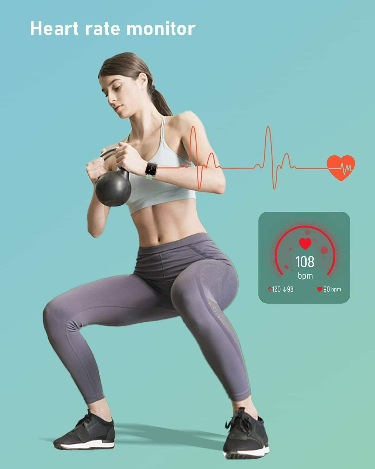 Fitness GPS Tracker Heart Rate Monitor Sport Digital Smart Watch for Cell Phones
