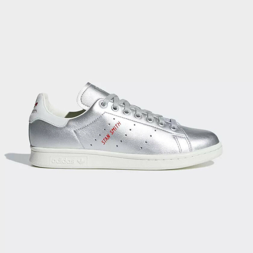 New Adidas Original Womens STAN SMITH SILVER B41750 US W 5 - 9 TAKSE