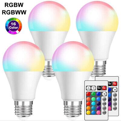 LE RGBW E27 LED Lampe, 6W dimmbar Birne mit Fernbedienung