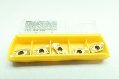 Set Of 5 Kennametal EDCT140408PDERGD EC1408EGD KCSM30 Carbide Insert