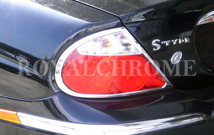 US STOCK 2x CHROME Rear Tail Light Trims for JAGUAR S Type 98-03 Sedan Pre-LCI