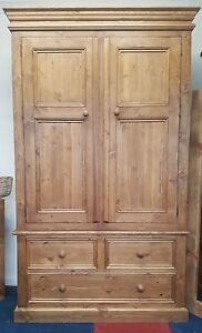 NEW-SOLID-PINE-WARDROBE-HANDMADE-WARDROBE-WITH-DRAWERS-GENTS-WARDROBE