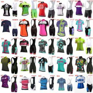 New-2019-Summer-Cycling-Jersey-Women-Short-Sleeve-Bike-Shirt-Bib-Shorts-Set-D24