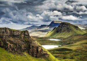A1-Scotland-Highland-Mountains-Poster-Art-Print-60-x-90cm-180gsm-Fun-Gift-16385