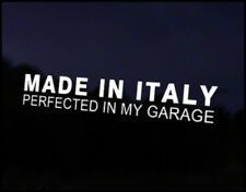 Made in Italy Car Decal Sticker JDM Vehicle Bike Bumper Graphic Funny