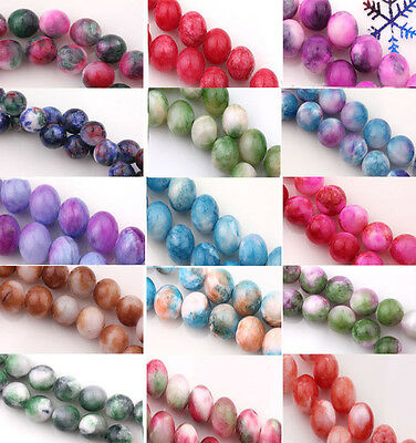 Natural Stone Gemstone Round Spacer Loose Beads Jewelry Findings 6MM 8MM 10MM