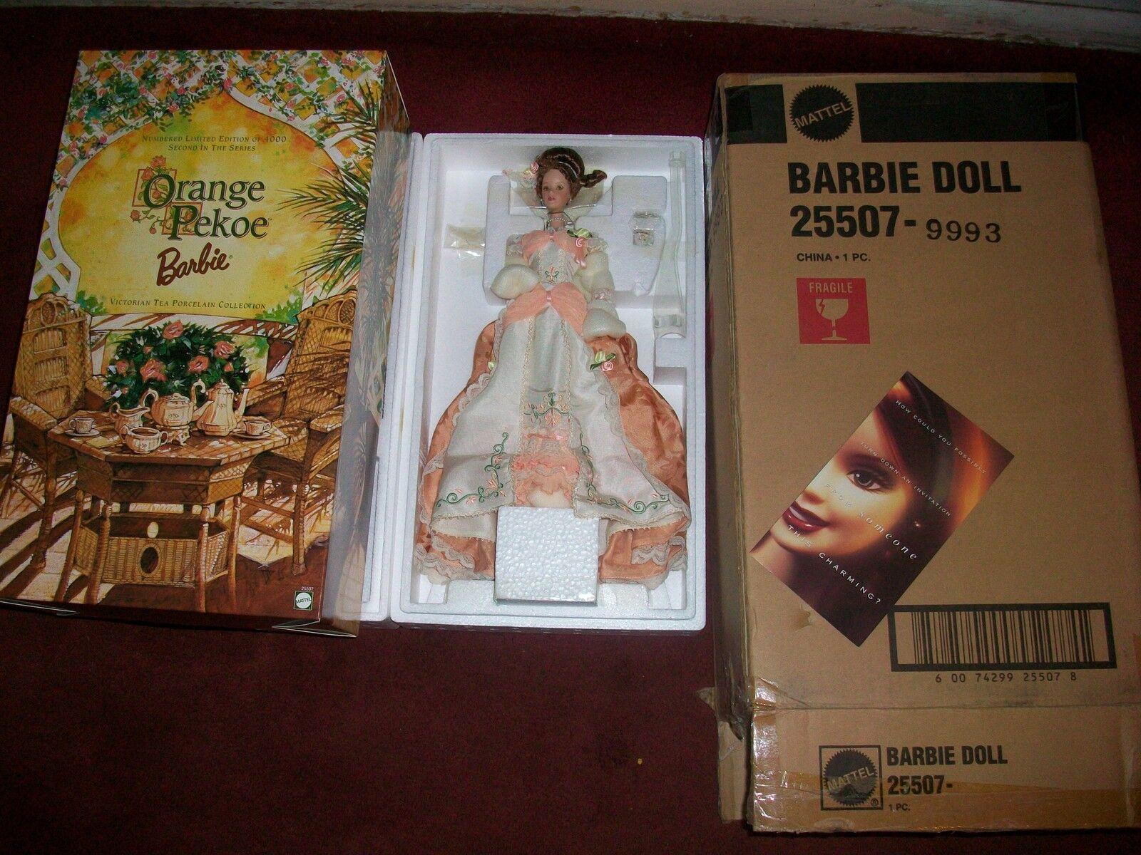 naranja Pekoe Barbie Victorian Tea Porcelana Col Mib