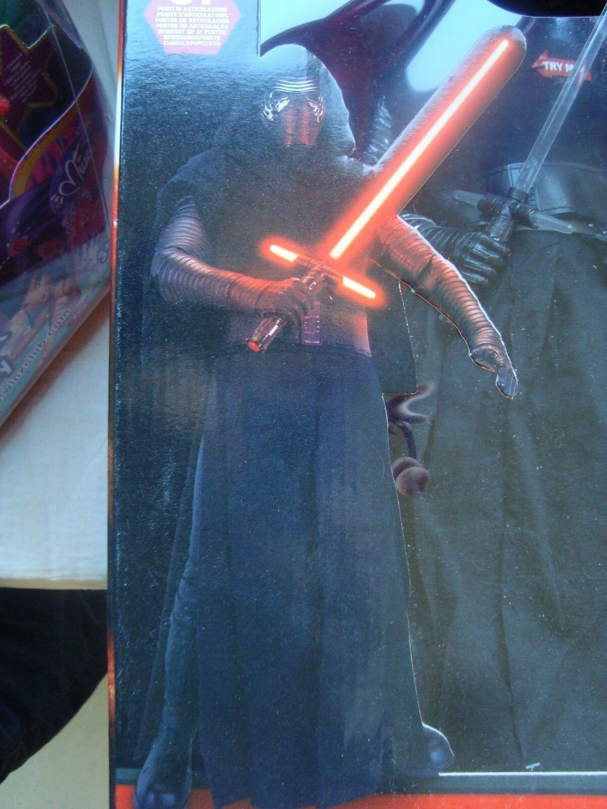 STAR WARS FIGÜRCHEN RIESIG INTERCATIVE 44 CM KYLO REN NEU IN SCHACHTEL