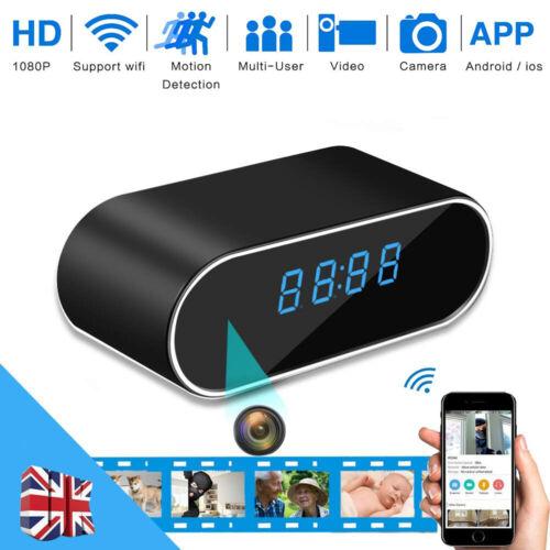 1080P Surveillance Wifi Motion Camera Alarm Clock Security Camera Night Vision
