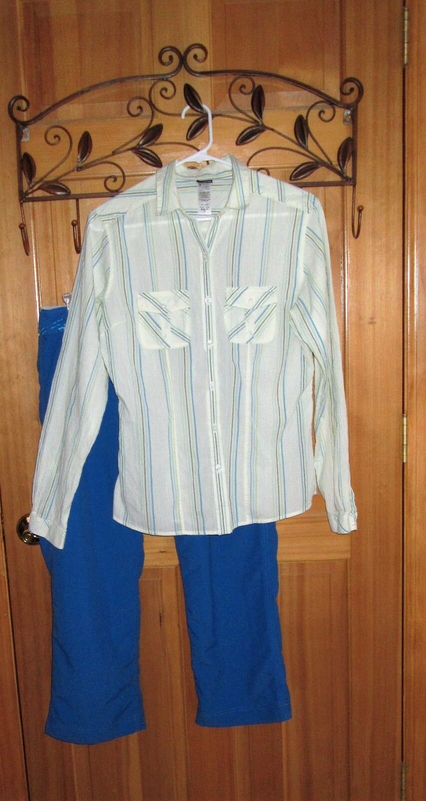 Women's Patagonia Sz.10 long sleeve shirt  & Water Girl by Patagonia bluee capris