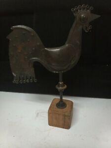 Petit coq en métal de fabrication artisanale, décoration ...