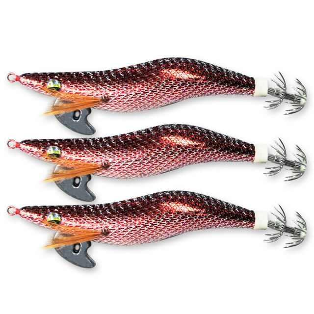 3 X High Quality Fishing Squid Jig Size 3.0 New Colour153,Fishing Tackle Lure