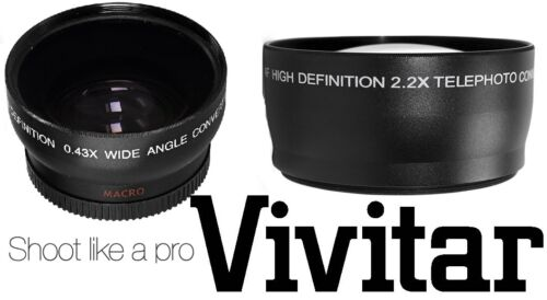 HD WIDE ANGLE & TELEPHOTO LENS (2-PC LENS KIT) for CANON EOS M EF-M 22mm STM KIT