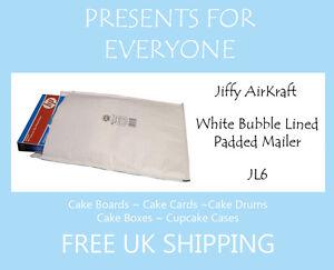 25 x Jiffy Airkraft White Bubble Lined Postal Padded Mailing Bags JL6 J/6