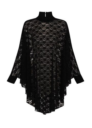 Gothique Dentelle Cape-Robe Lydia gothickleid Transparent Transparent
