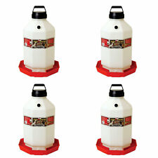 Little Giant Ppf7 7 Gallon Automatic Poultry Waterer For Chickens Red 4 Pack