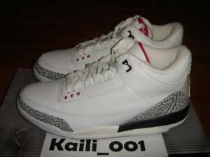 6989b5605201 Nike Air Jordan 3 RETRO Size 12 White Cement 2003 136064-102 Nike ...