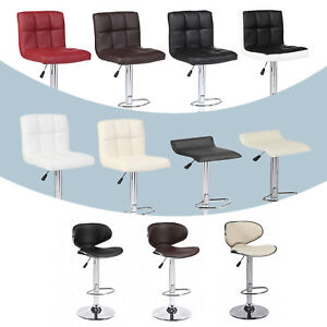 Modern-Set-of-2-Bar-Stools-Leather-Adjustable-Swivel-Pub-Chair-In-Multi-Colors