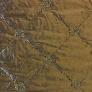 K125 Bronze Gold Diamond Stitch Quilted 100% Silk Fabric Home Dec ... : quilted silk fabric - Adamdwight.com