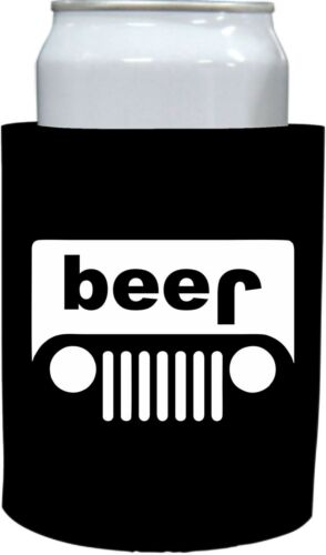 Coolie Junction Beer Truck Thick Foam Old School Funny Can Coolie jeep
