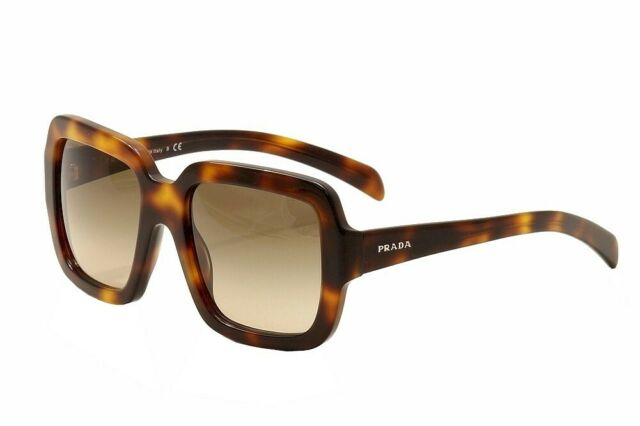 4168fabce376 PRADA Journal 07r Oversized Square Pr07rf Brown Havana Sunglasses Women