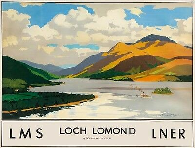 Vintage LMS Ireland For Holidays Railway Poster A3//A4 Print