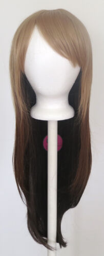 28/'/' Long Straight Layered Fade Light to Dark Brown Cosplay Wig
