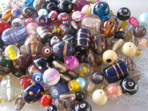 Cuentas de vidrio Mix 200g colorido mezcla perlas Lampwork