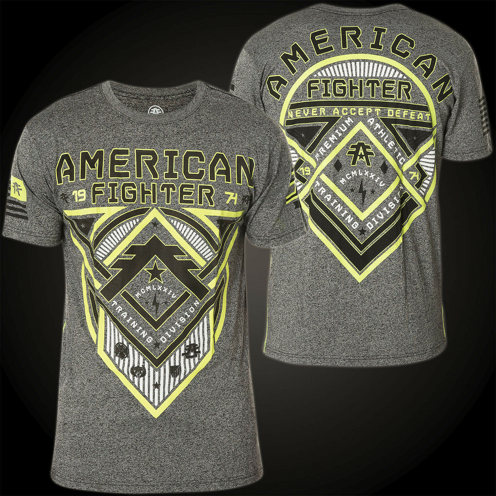 AMERICAN FIGHTER Affliction T-Shirt Roosevelt Grau T-Shirts