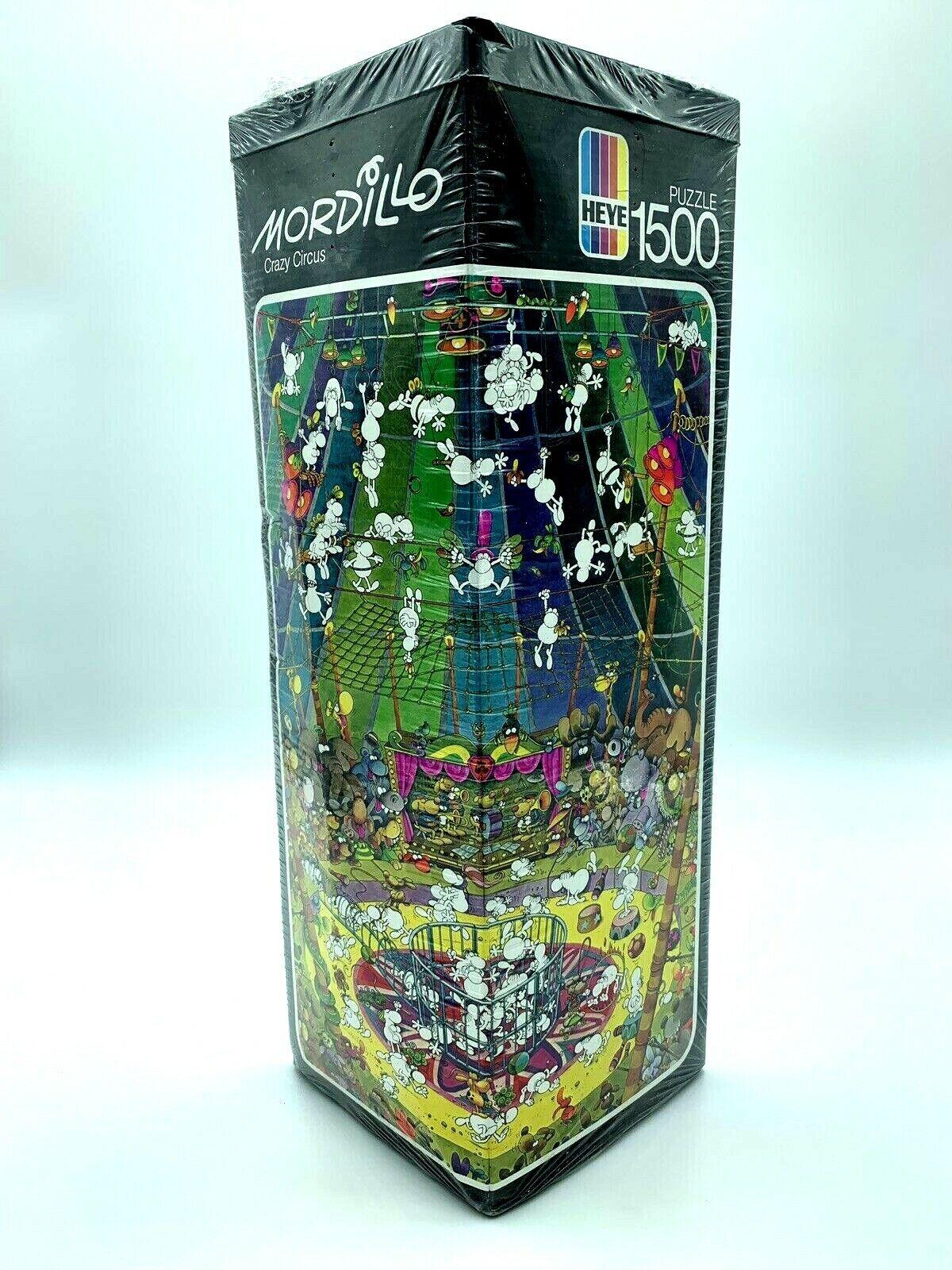 HEYE Mordillo 1500 1500 1500 Piece Puzzle CRAZY CIRCUS Vintage 1981 Made in Germany NEW 4acddf