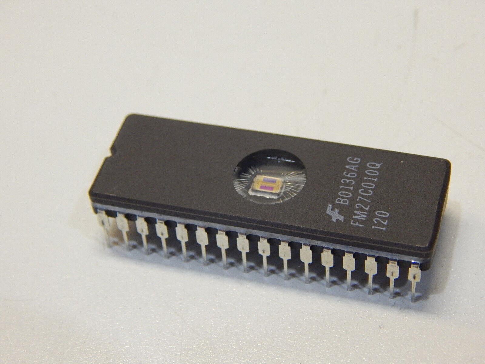 FM27C010Q-120 EPROM CMOS 128K X 8 CERAMIC DIP IC 32 PIN