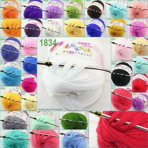 Sale-1-ball-x-50g-Cashmere-Silk-velvet-Children-hand-knitting-solid-color-Yarn-O