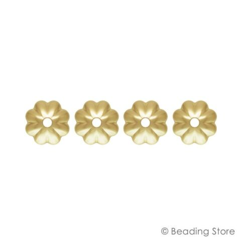 6 or 50 pc 14ct Yellow Gold Filled Bead Caps Flower Fluted 4mm 4.5mm 5mm 6mm 7mm