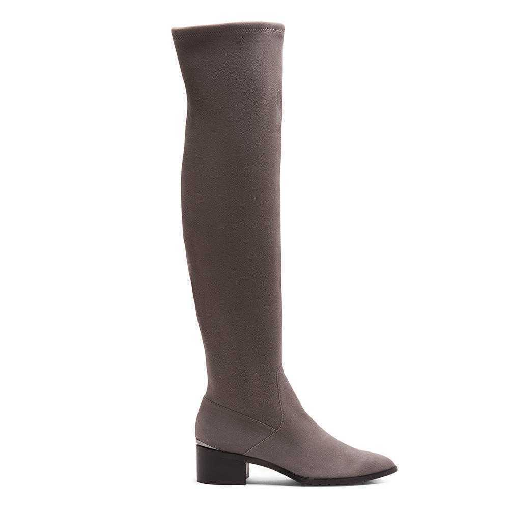 Nuevo Donald J Pliner Dayle estiramiento bota de de de gamuza, gris, mujer talla 7.5  448  los nuevos estilos calientes