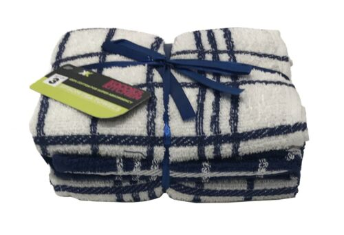 Tea Towels 100/% Cotton Terry Kitchen Dish Cloth Soft Absorbent Pack of 3,6,9,12