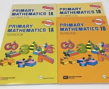 Singapore Math® Primary Mathematics 1A & 1B Textbook and Workbook Set US Ed. New